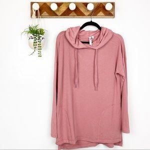 Cable & Gauge | Pink Soft Long Sleeve Hoodie